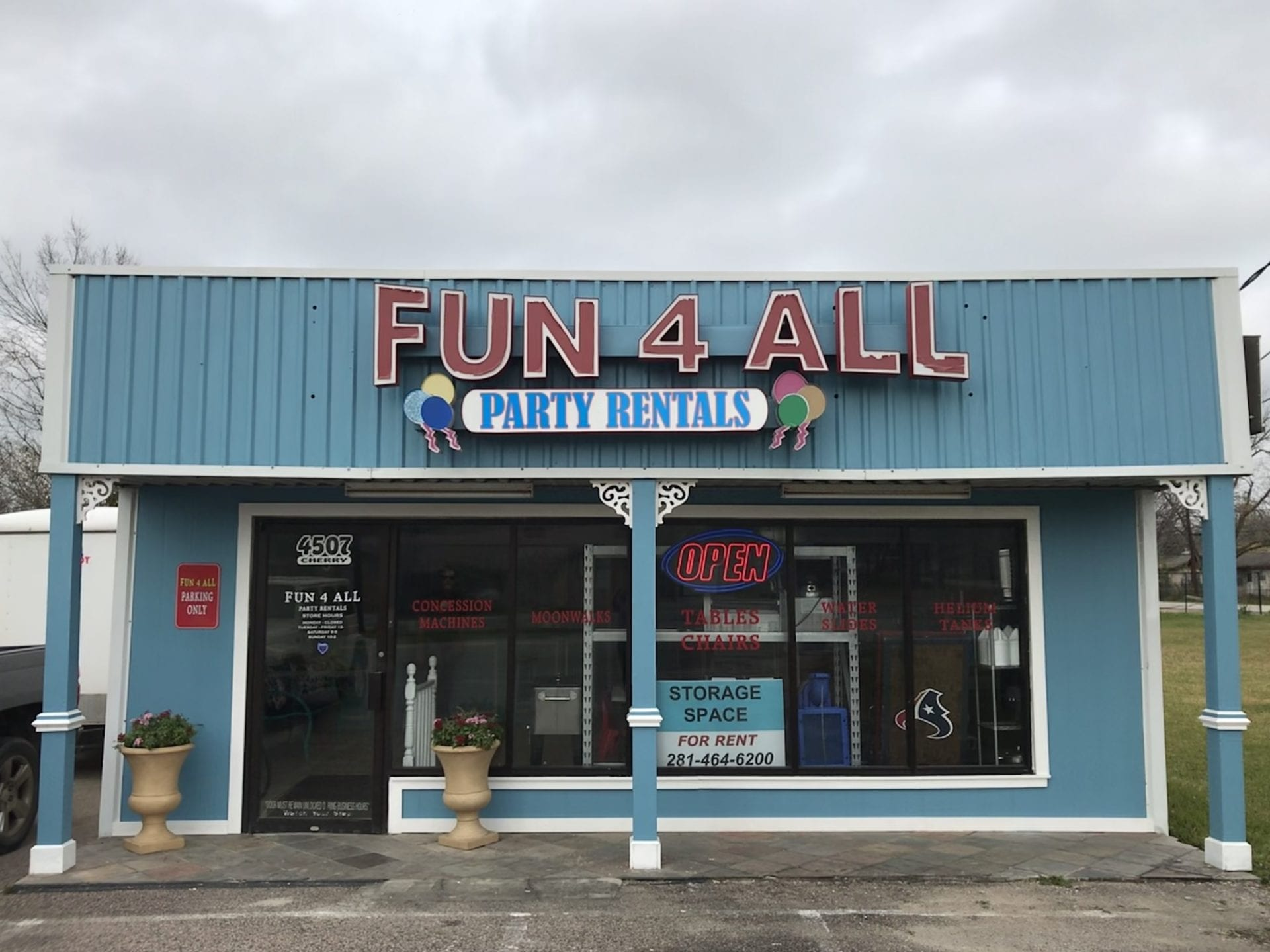 Fun 4 All Party Equipment Rentals Store in Pearland TX