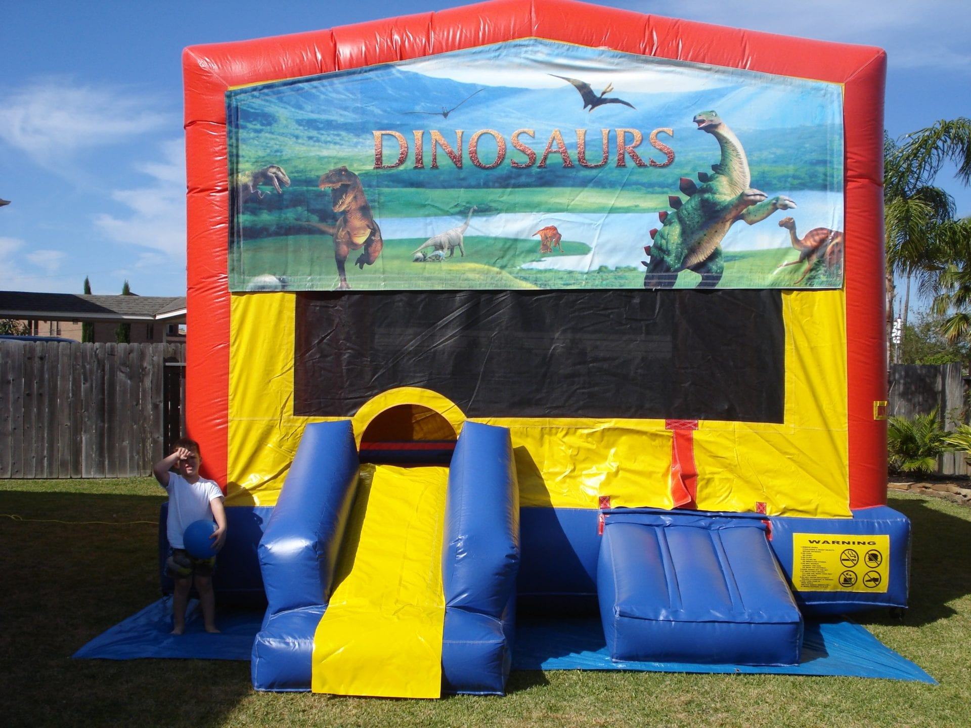 Dinosaur Fun House Jumper for birthday party