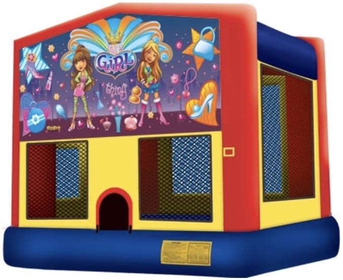 Girl theme moonwalk bounce rental