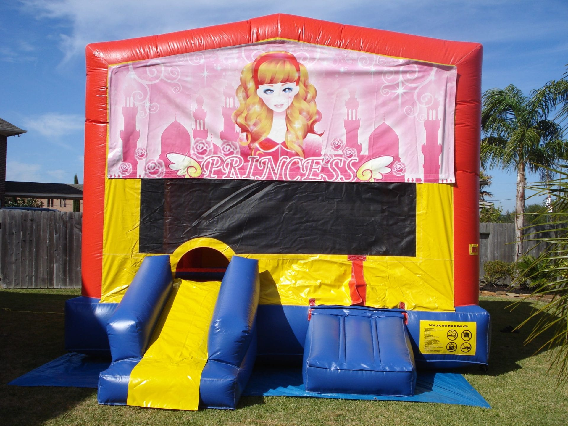 Princess Castle bouncer for girl's party
