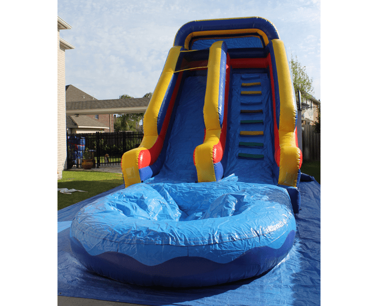 big slide with pool to rent in alvin tx