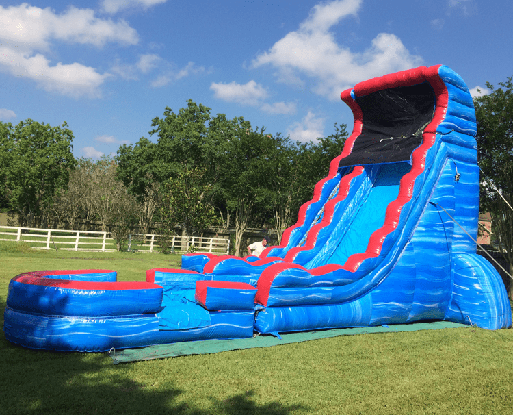 Tsunami Splash Water Slide to Rent in Houston and Friendswood