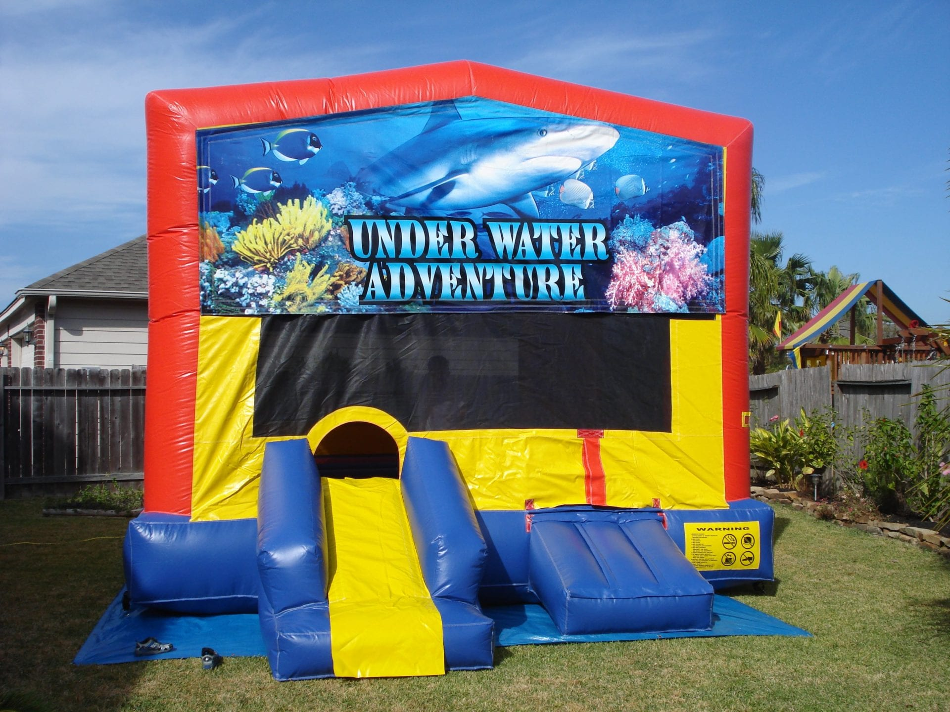 shark under water adventure bouncer pearland TX moonwalk rental