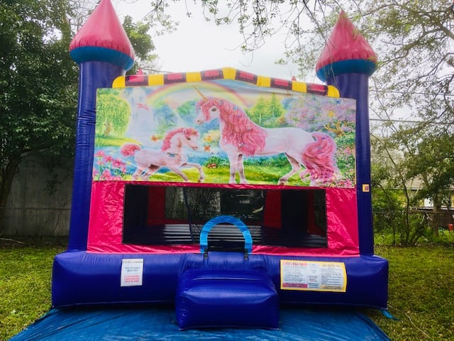 Unicorn Dream Castle bounce House for birthday party
