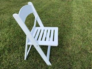 White Garden Resin Chair Rental